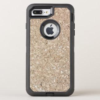 Blasser pfirsichfarbener beige Zement-Bürgersteig OtterBox Defender iPhone 8 Plus/7 Plus Hülle