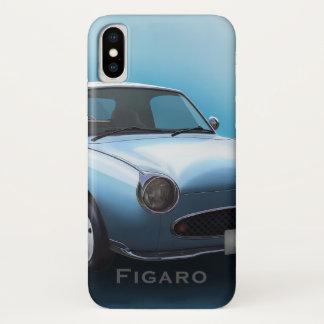 Blasses Aqua-Nissan Figaro-Auto iPhone X Hülle