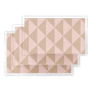 Blasses Hartriegel-Rosa und Haselnuss Brown Acryl Tablett