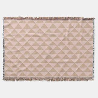Blasses Hartriegel-Rosa und Haselnuss Brown Decke