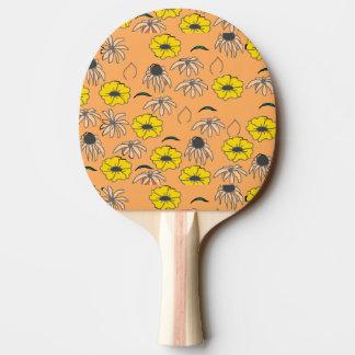 Blasses orange Gelb des Vintagen Tischtennis Schläger