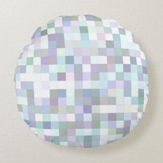 Blasses quadratisches Mosaik Rundes Kissen