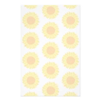 Blasses Sonnenblume-Hintergrund-Muster Bedrucktes Papier