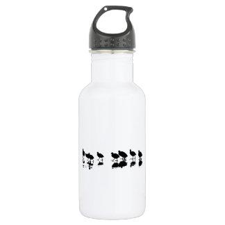 Blässhuhn-Entwurf - Schwarzes auf Weiß Trinkflasche