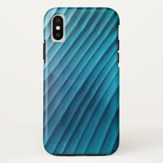 Blatt-blaue Diagonale iPhone X Hülle