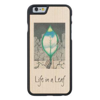… Blatt (dünn) Carved® iPhone 6 Hülle Ahorn