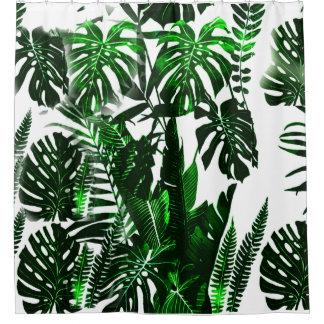 Blatt-Gewebe-Duschvorhang mit Palme-Blätter, Duschvorhang