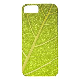 Blatt-grüner Nahaufnahme-Beschaffenheit iPhone 6 iPhone 8/7 Hülle