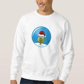Blatt in der Schnee-Kugel Sweatshirt
