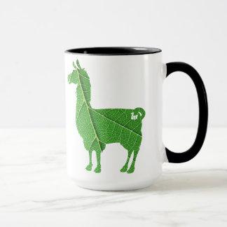 Blatt-Lama-Tasse Tasse