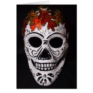 Blatt-Schädel-Maske Karte