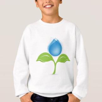 Blatt und Tropfen Sweatshirt
