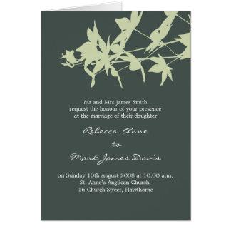 Blattentwurf Hochzeits-Einladung GRAUER HIMMEL u. Karte