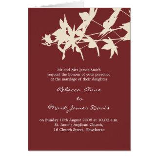 Blattentwurf Hochzeits-Einladung ROT Karte