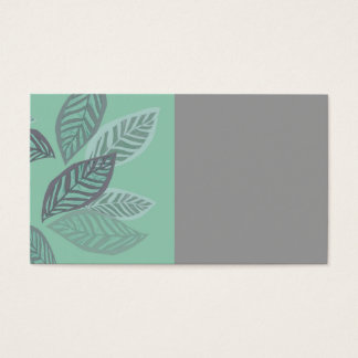 Blattentwurfs-Visitenkarten grün und graue Kunst Visitenkarte