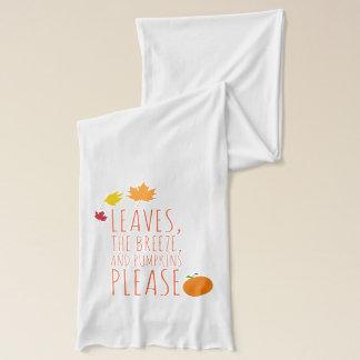Blätter, Brise und Kürbise Jerseyschal Schal