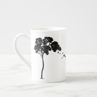Blätter, das weg eine Baum-Knochen-China-Tasse Porzellantasse