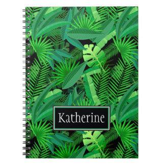 Blätter der tropischen Palmen | addiert Ihren Notizblock