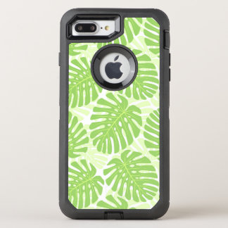 Blätter der tropischen Pflanze - Monstera Muster OtterBox Defender iPhone 8 Plus/7 Plus Hülle
