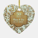 Blätter Hochzeits-Jahrestages des Gold50.