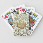 Blätter Hochzeits-Jahrestages des Gold50. Poker Karten
