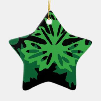 Blätter mit Trauben Keramik Stern-Ornament