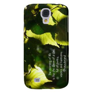 Blätter voll Licht-mit des Literatur-Zitats Galaxy S4 Hülle