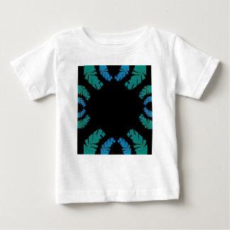 Blätterentwurf auf Schwarzem Baby T-shirt