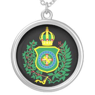 Blättert Halsband das Silber mit dem Imperialen Versilberte Kette