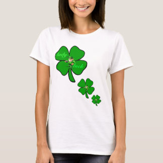 Blattklee leprecon T - Shirt Damenglücks 4