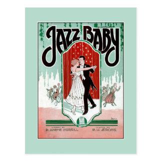Blattmusikabdeckung des Jazz-Babyzwanziger jahre Postkarte