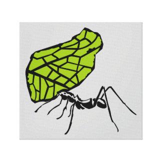 Blattschneideameise Natur Stencil Leinwanddruck