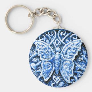 Blau 3d Schmetterling Schlüsselanhänger