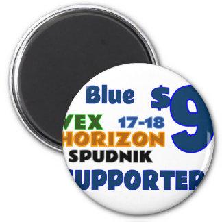 Blau ($9) runder magnet 5,1 cm