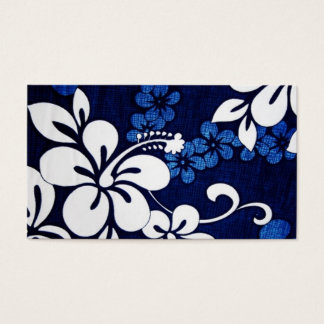 Blau-Aloha Hawaii-Blumen Visitenkarte