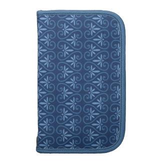 Blau auf blauem Damast-Muster Mappen