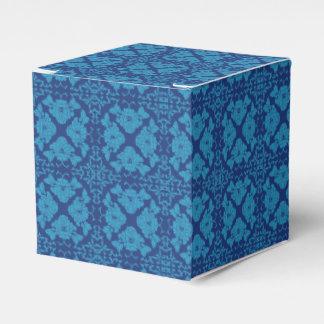 Blau auf blauem geometrischem Mit Blumenpatttern Geschenkschachtel