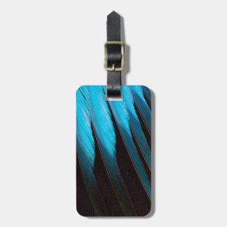 Blau-Aufgeblähte Rollen-Feder abstrakt Kofferanhänger