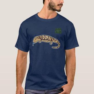 Blau aufgelecktes Skink T-Shirt