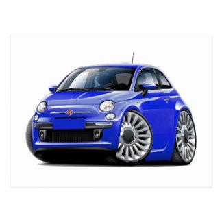 Blau-Auto Fiats 500 Postkarte