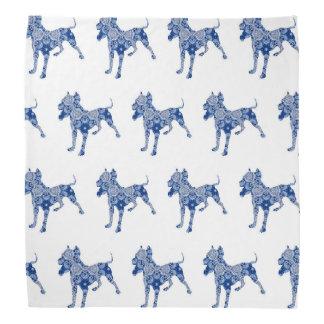 Blau| Bandana der Paisley-HundeNr. 1%-pipe% Kopftuch
