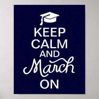 Blau behält Ruhe und März auf Abschluss-Plakat