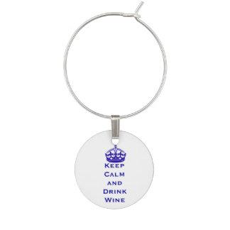 Blau behält ruhigen Wein-Glas-Charme Glasmarker