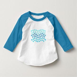 Blau bewegt 3/4 Hülsen-Kleinkind-T - Shirt
