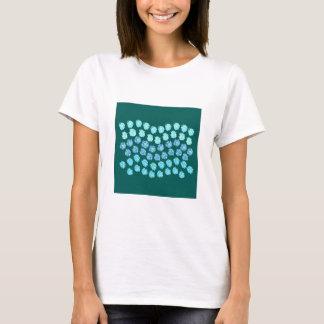 Blau bewegt den grundlegenden T - Shirt der Frauen