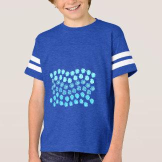 Blau bewegt der Fußball-T - Shirt der Kinder