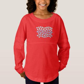 Blau bewegt der Geist-Jersey-T - Shirt der Mädchen