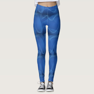 Blau bewegt die Gamaschen der Frauen wellenartig Leggings