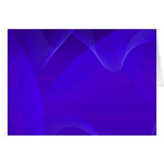Blau bewegt I wellenartig Grußkarte