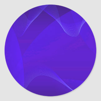 Blau bewegt I wellenartig Runder Aufkleber